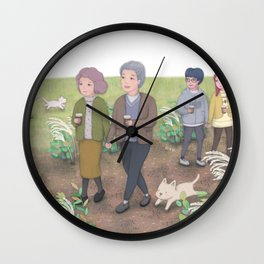 Walk in the park Wall Clock