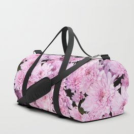 A Sea of Light Pink Chrysanthemums #1 #floral #art #Society6 Duffle Bag