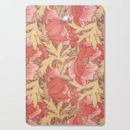 William Morris Poppies Floral Art Nouveau Pattern Cutting Board