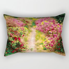 Footpath with azaleas Rectangular Pillow