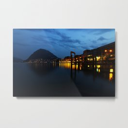 Lugano by night Metal Print