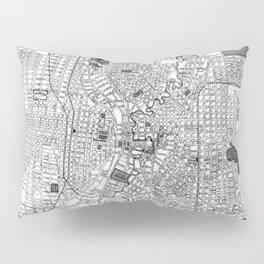 Vintage Map of San Antonio Texas (1909) BW Pillow Sham