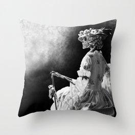 Lady Skeleton Throw Pillow