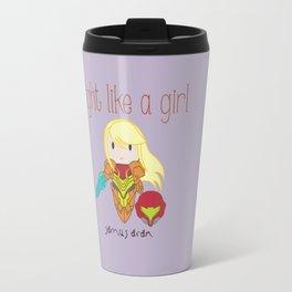 Fight Like a Girl - Samus Aran Travel Mug