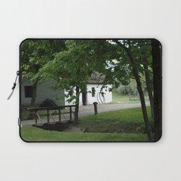 Farmhouse and Footbridge Laptop Sleeve