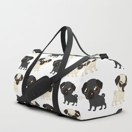 Pug Buddies. Adorable Pug Pattern Duffle Bag