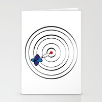 chicago bulls Stationery Cards featuring Bulls Eye by Nivedhna