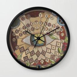 Lover's Eye: Answering Board by J. Rombach Wall Clock