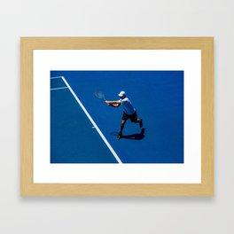 Tennis player Framed Art Print