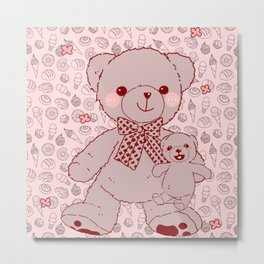The Adventures of Bear and Baby Bear-Pastry2 Metal Print