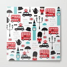 London icons illustration pattern print Metal Print