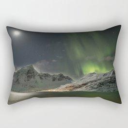 Battle between the Moon & Aurora  Rectangular Pillow