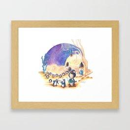 PenguinGirl and her Music Maker Penguins Bring Love, Laughter and Light in the Desert Framed Art Print
