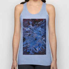 cosmic blue abstract paint Unisex Tank Top