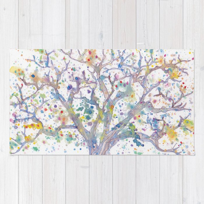 Tree Of Life Rug By Femmetomorrow Society6