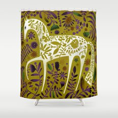 FLOWER HORSE Shower Curtain