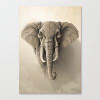 elephant Canvas Prints featuring Elephant by Rafapasta