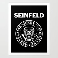 seinfeld Art Prints featuring Seinfeld by WITHDRAWN