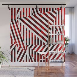 Striped Red Tiger Wall Mural