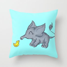 Ducky Buddy Throw Pillow