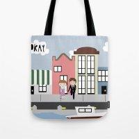 tfios Tote Bags featuring Amsterdam (TFIOS) by Natasha Ramon