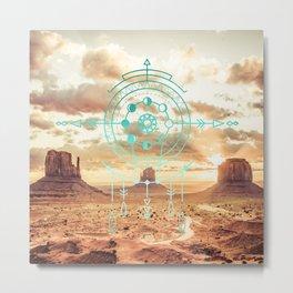 Mandala Desert Dawn Metal Print