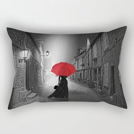 Alone in the rainy night Rectangular Pillow