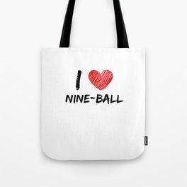I Love Nine-ball Tote Bag