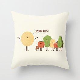 Group Hug Throw Pillow