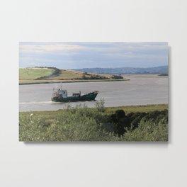 Ship into Launceston Docks* Metal Print
