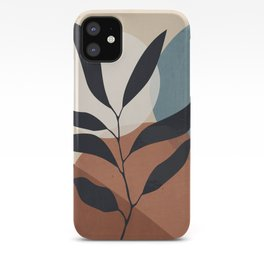 Abstract Art Tropical Leaf iPhone Case