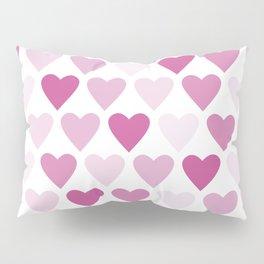 Cute heart seamless vector pattern in pink Pillow Sham