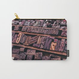 Wood Letterpress Carry-All Pouch