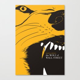 The Wolf of Wall Street | Fan Poster Design Canvas Print