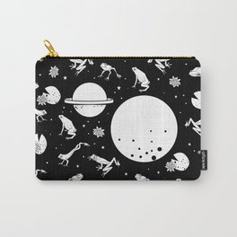 Frog Space Pattern Carry-All Pouch