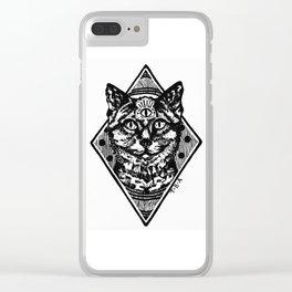 Three eyed kittie Clear iPhone Case