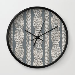 Cable Knit Grey Wall Clock