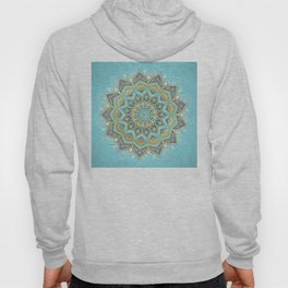 Cyan & Golden Yellow Sunny Skies Medallion Hoody