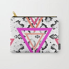 Snake skin texture. black magenta pink orange Carry-All Pouch
