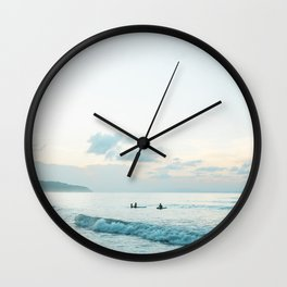Once your board hits the water  | Surf travel photography print Wall Clock