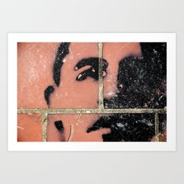 Brick Obama Art Print