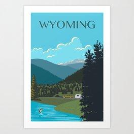 Wyoming Travel Poster Art Print