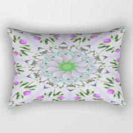 Purple Wildflower Kaleidoscope Art 7 Rectangular Pillow
