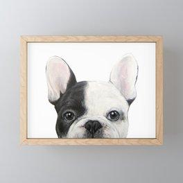 French Bulldog Dog illustration original painting print Framed Mini Art Print