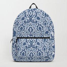 Casbah Blue Moroccan Damask Backpack
