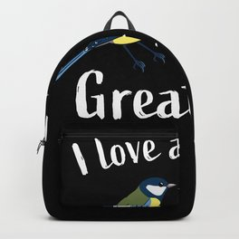Funny pair of great tits bird watching Backpack