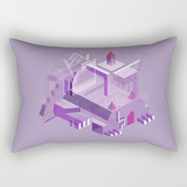 Den of the Headless Lion in Purple and Lavender Rectangular Pillow