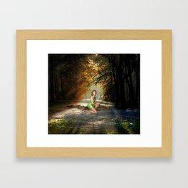 Forest Sprite Framed Art Print