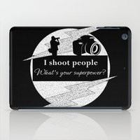 aperture iPad Cases featuring I Shoot People by LLL Creations