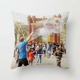 Barcelona's Arc de Triomf Throw Pillow